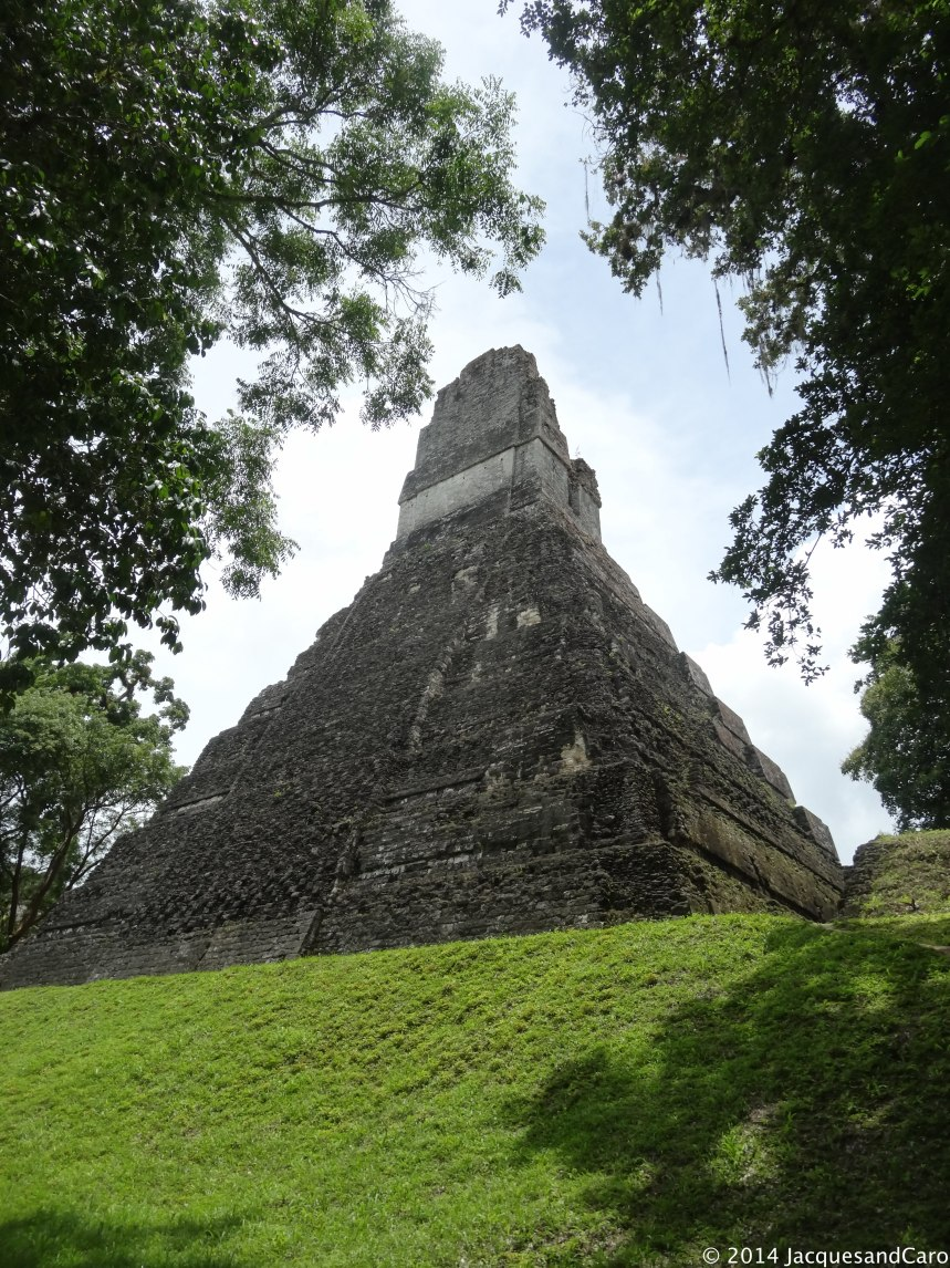 Jaguar temple off the Gran Plaza, we are almost arrived in the main centre of the site