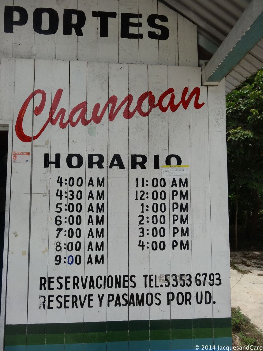 Bus schedule to reach Palenque